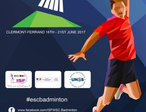 Campionatul European Scolar de Badminton, Clermont-Ferrand (Franta) 16-21 iunie 2017